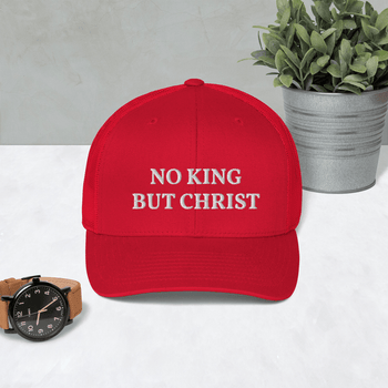 AnarchoChristian - No King But Christ Trucker Cap - Proud Libertarian