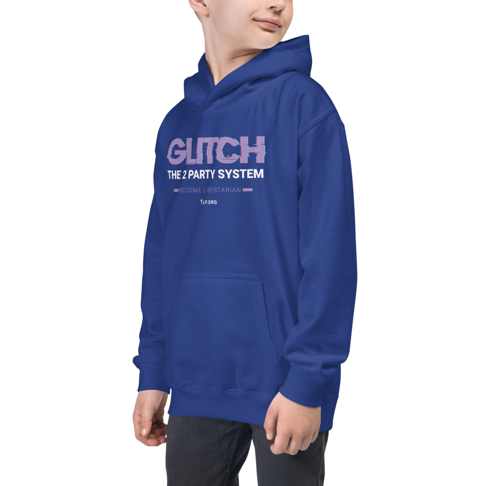 Glitch the Two Party System Kids Hoodie - Proud Libertarian