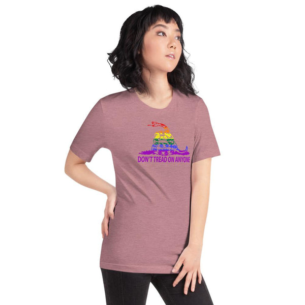 Don't Tread on Anyone LGBTQ Slim-Fit Unisex T-Shirt - Proud Libertarian
