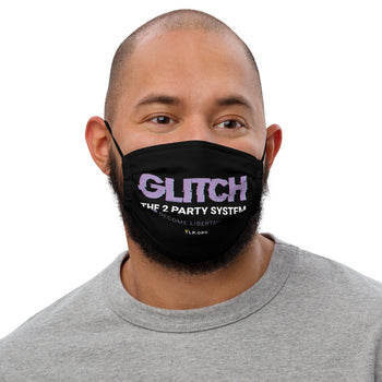 Glitch the Two Party System - Face mask - Proud Libertarian
