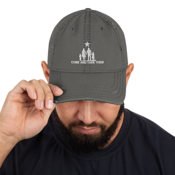 Come and Take Them Anti-War Distressed Dad Hat - Proud Libertarian