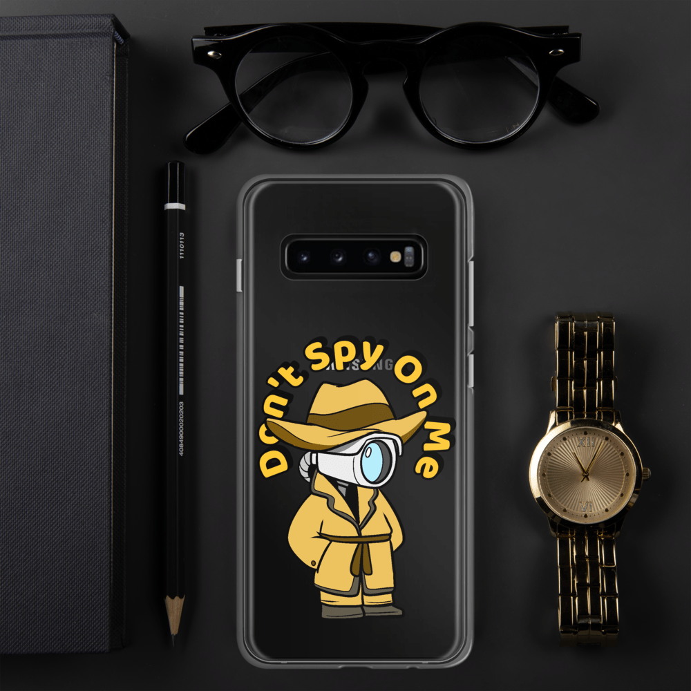 Don't Spy on Me Cartoon Samsung Case