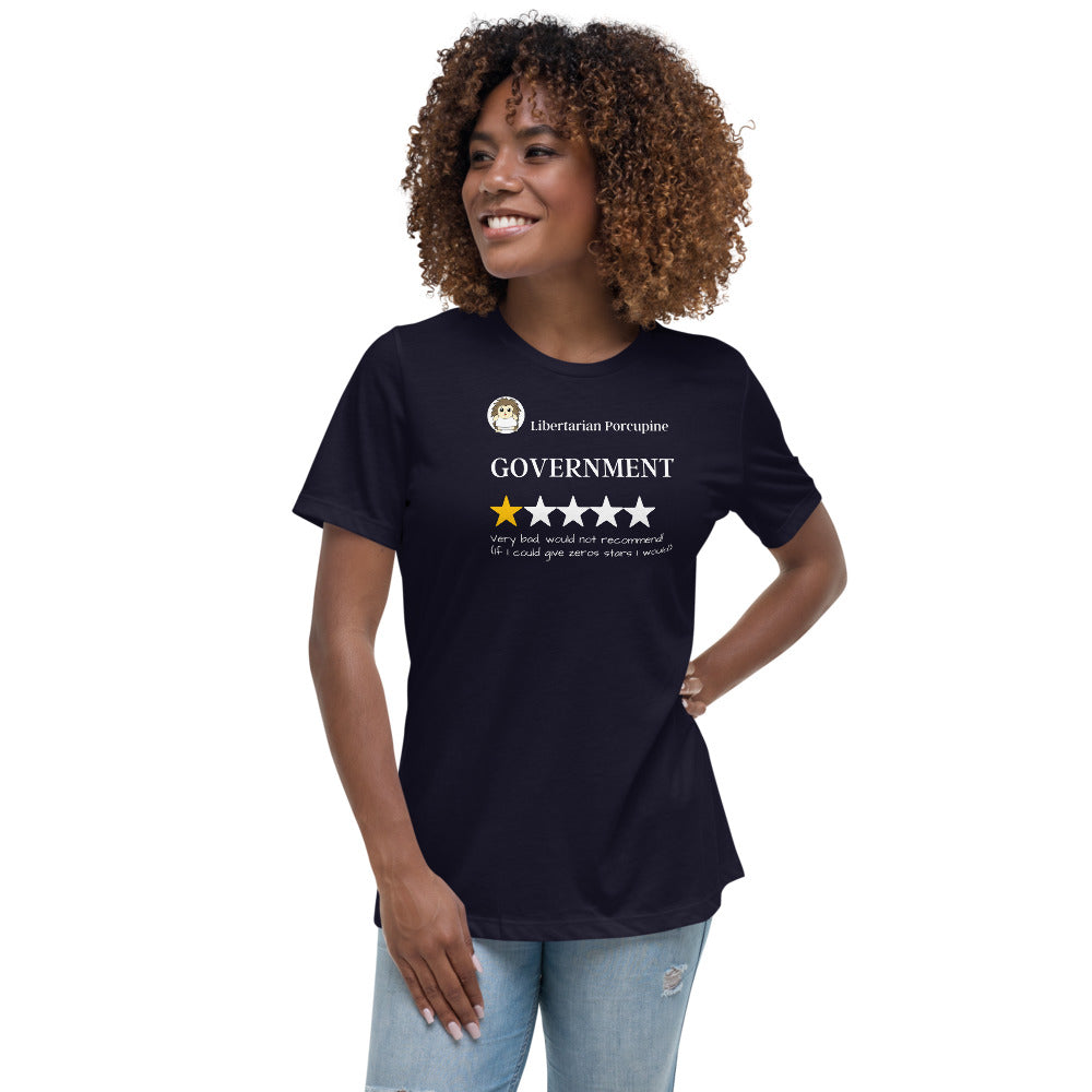 Government Very Bad Women's Relaxed T-Shirt - Proud Libertarian