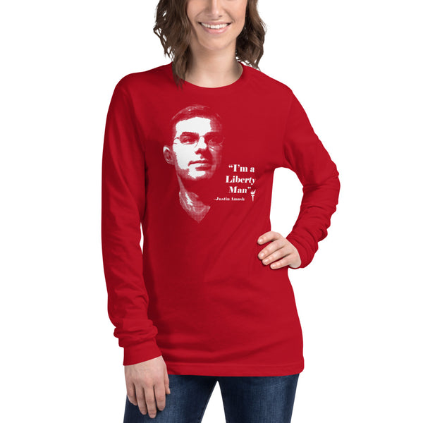 I'm a Liberty Man - Justin Amash Unisex Long Sleeve Tee - Proud Libertarian