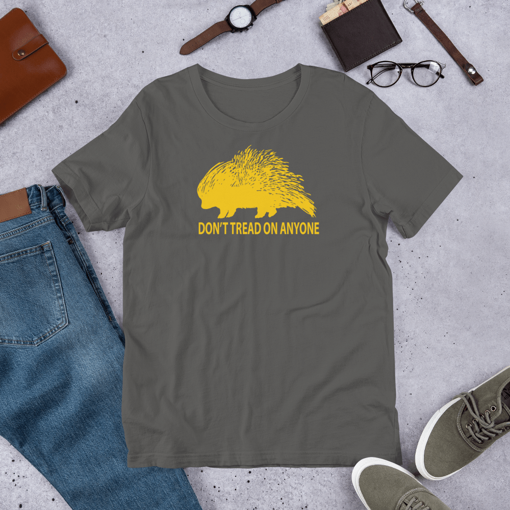 Don't Tread on Anyone Slim-Fit T-Shirt - Proud Libertarian