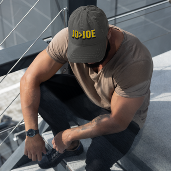 Jo > Joe Distressed Dad Hat - Proud Libertarian