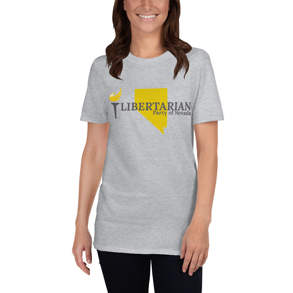 Libertarian Party of Nevada Short-Sleeve Unisex T-Shirt - Proud Libertarian