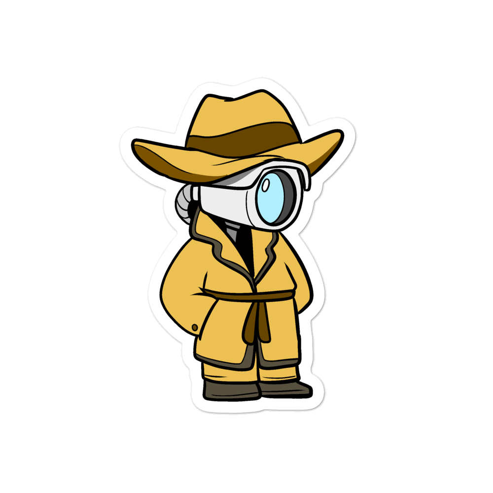 Don't Spy on Me Cartoon - Bubble-free stickers - Proud Libertarian