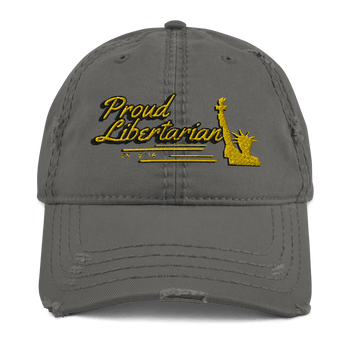 Proud Libertarian Distressed Dad Hat - Proud Libertarian