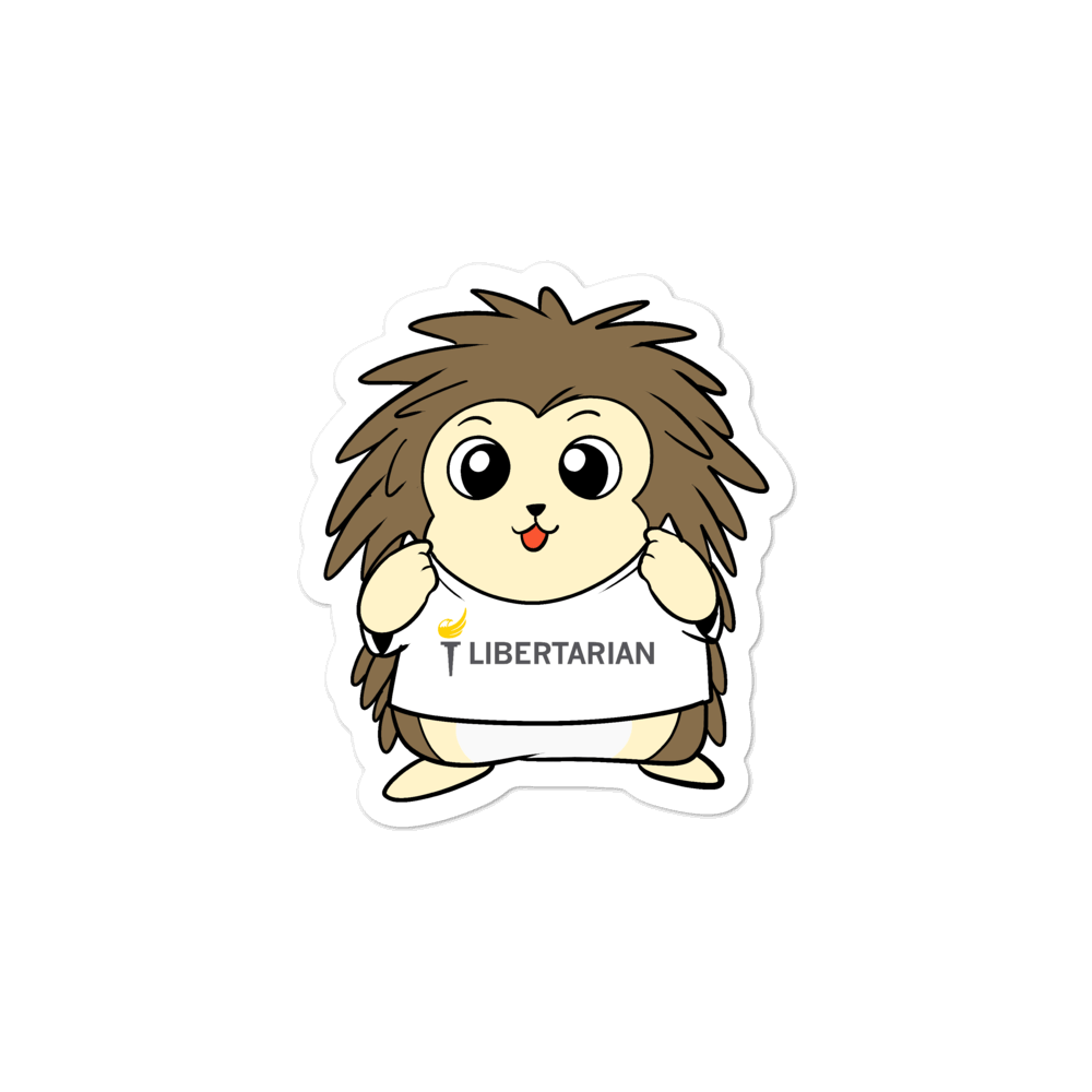 Libertarian Party Cartoon Porcupine - Bubble-free stickers