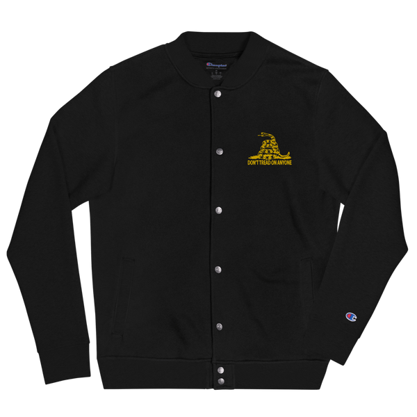 Don't Tread on Anyone Embroidered Champion Bomber Jacket - Proud Libertarian