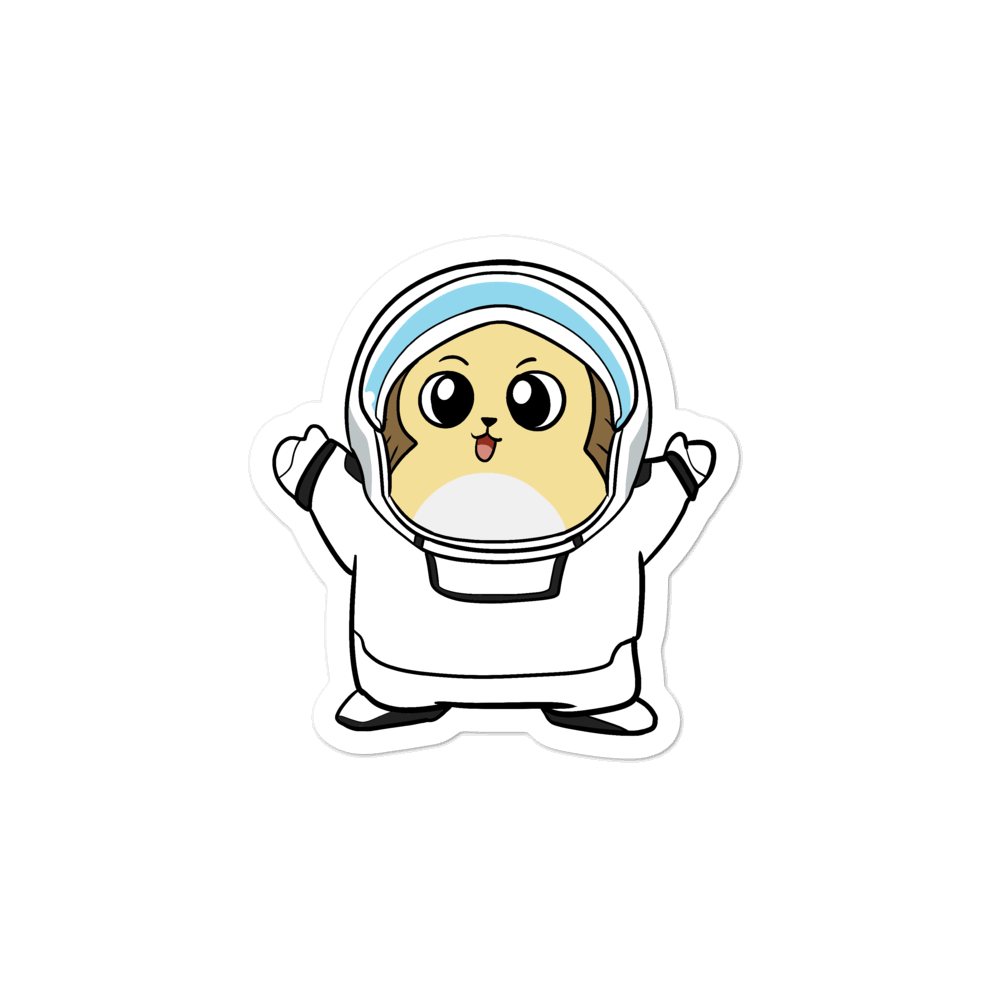 Freedom in Space Cartoon - Bubble-free stickers