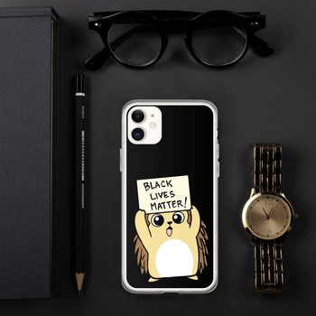 Black Lives Matter Porcupine Cartoon iPhone Case - Proud Libertarian