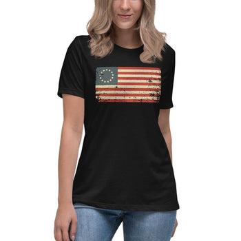1776 Flag Women's Relaxed T-Shirt - Proud Libertarian