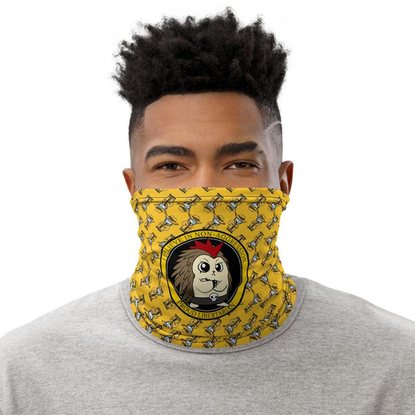 Good Ideas Don't require Force Angry Libertarian Cartoon Face Mask - Proud Libertarian