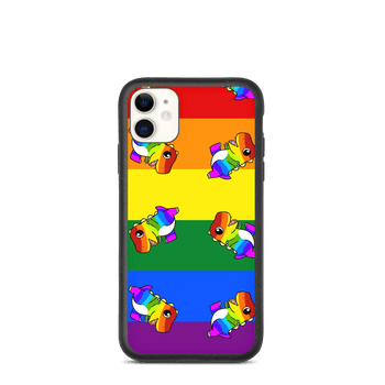 LGBTQ Tyrannosaurus Rex Cartoon Biodegradable phone case - Proud Libertarian