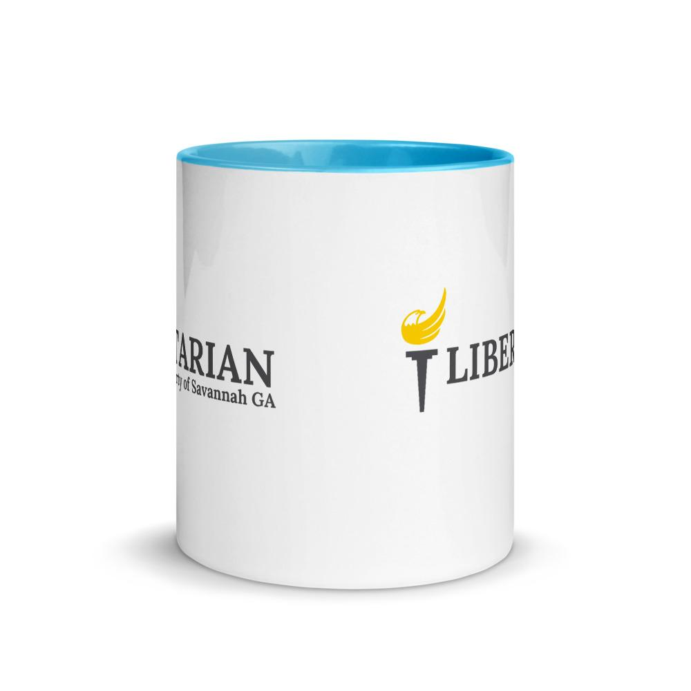 LP Savannah GA Mug with Color Inside - Proud Libertarian
