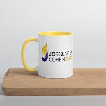 Jorgensen Cohen 2020 Mug with Color Inside - Proud Libertarian