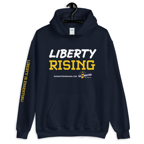 Liberty Rising - Rainwater for Indiana Hoodie - Proud Libertarian