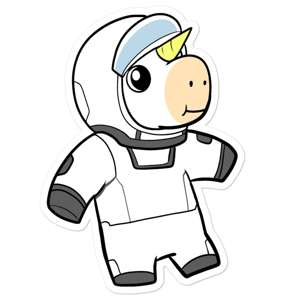 Space Unicorn Cartoon - Bubble-free stickers - Proud Libertarian
