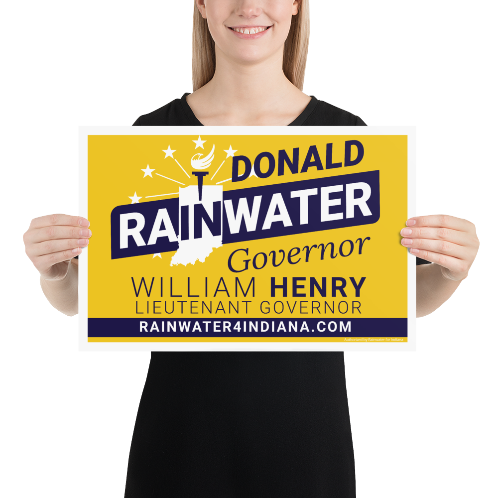 Rainwater for Indiana Rally Poster - Proud Libertarian