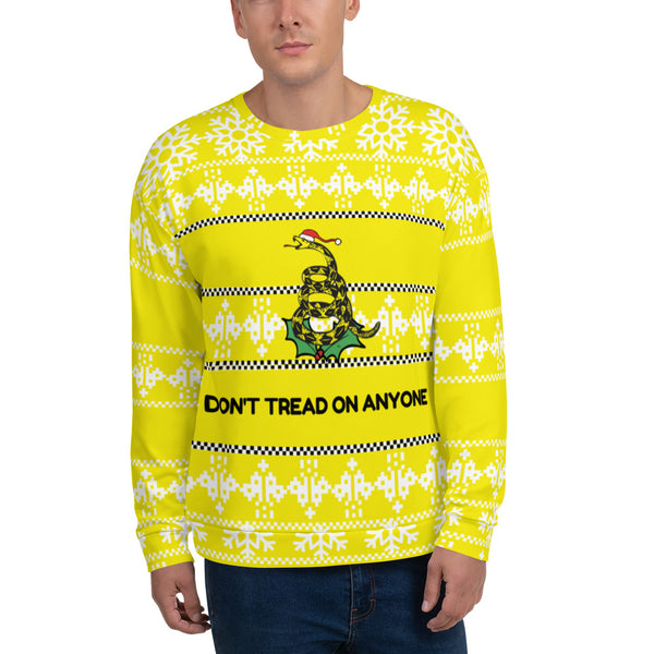 "Don't Tread on me ""Ugly Christmas Sweater"" Unisex Sweatshirt - Proud Libertarian"