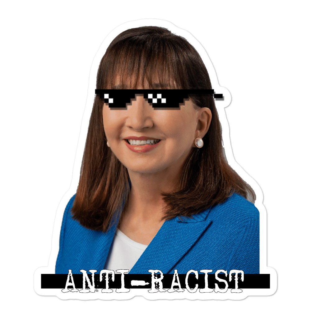Jo Jorgensen 2020 Anti-Racist Bubble-free stickers - Proud Libertarian
