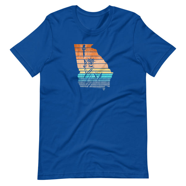 Lady Liberty Georgia Short-Sleeve Unisex T-Shirt - Proud Libertarian