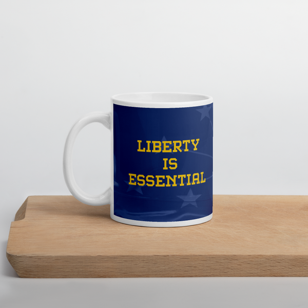 Rainwater for Indiana - Liberty is Essential Mug - Proud Libertarian
