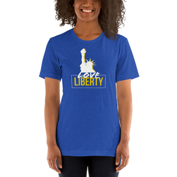 Love Liberty Short-Sleeve Unisex T-Shirt - Proud Libertarian