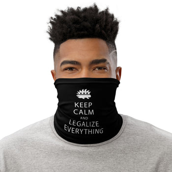 Keep Calm and Legalize Everything Facemask - Proud Libertarian