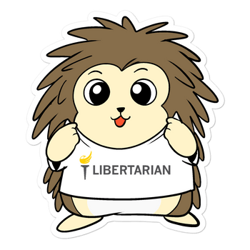 Libertarian Party Cartoon Porcupine - Bubble-free stickers - Proud Libertarian