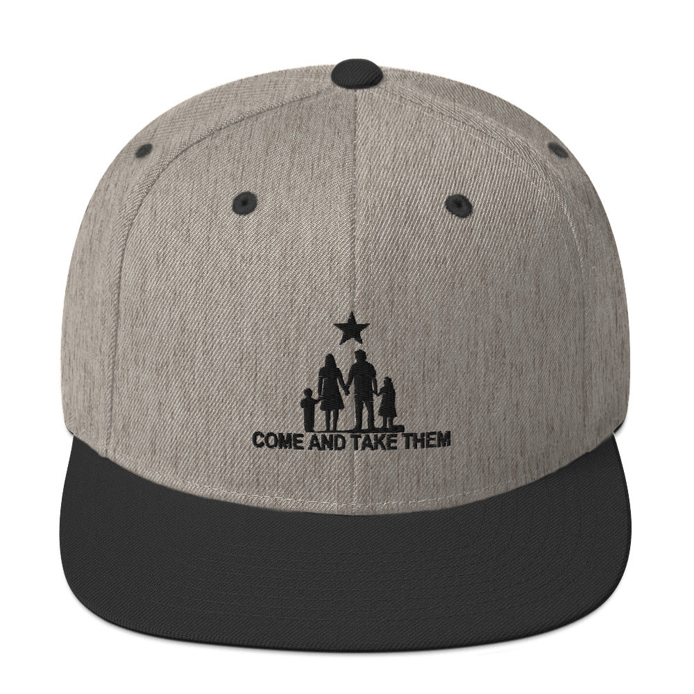 Come and Take them Anti-war Snapback Hat - Proud Libertarian