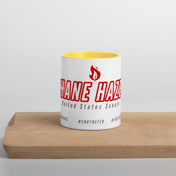 Shane Hazel 2020 Mug with Color Inside US Senate GA - Proud Libertarian