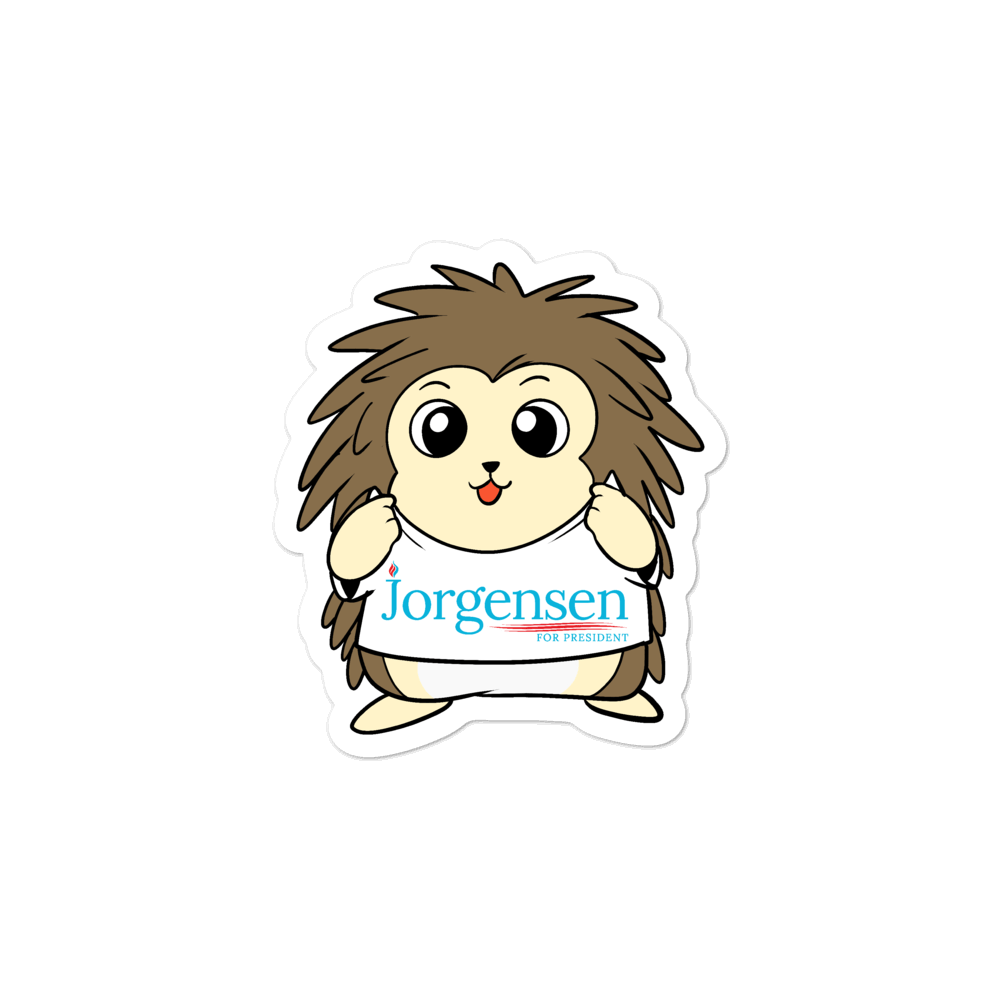Jorgensen 2020 Cartoon Porcupine Bubble-free stickers - Proud Libertarian