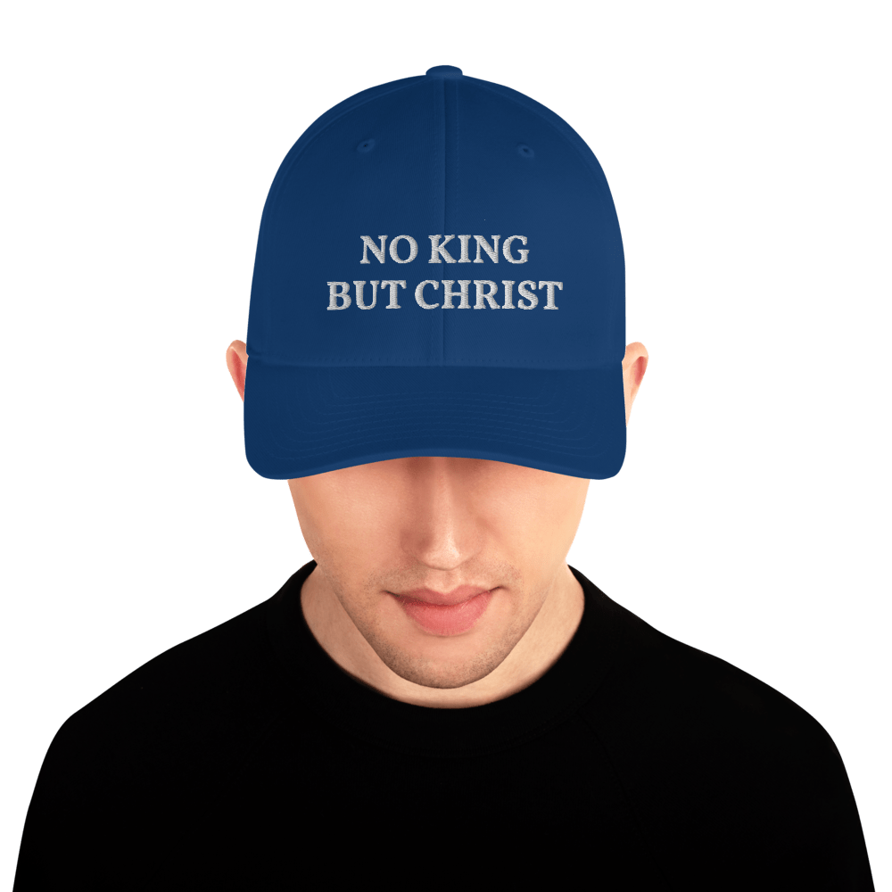AnarchoChristian - No KIng but Christ FlexFit Hat