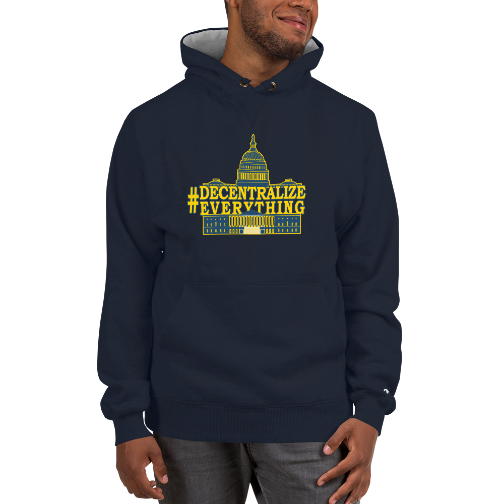 #DecentralizeEverything - Michael Rufo For Congress Champion Hoodie - Proud Libertarian