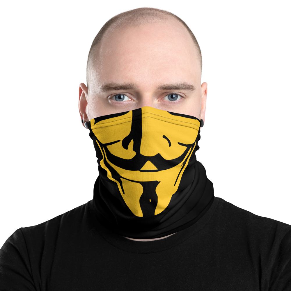 Guy Fawkes Anonymous mask (Yellow)