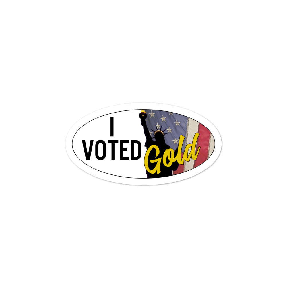 I Voted Gold - Large Vote Stickers (Design 4) - Proud Libertarian