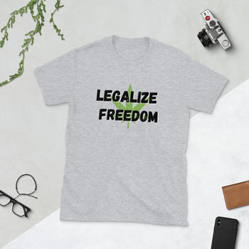 Legalize Freedom Short-Sleeve Unisex T-Shirt - Proud Libertarian