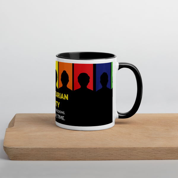 Libertarian Party - All of your Freedoms All of the Time Mug with Color Inside - Proud Libertarian