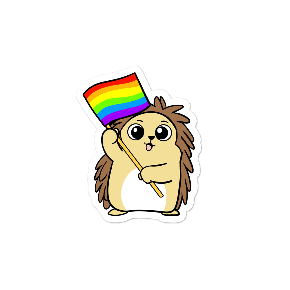 LGBTQ Porcupine Cartoon - Bubble-free stickers