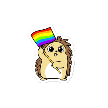 LGBTQ Porcupine Cartoon - Bubble-free stickers - Proud Libertarian