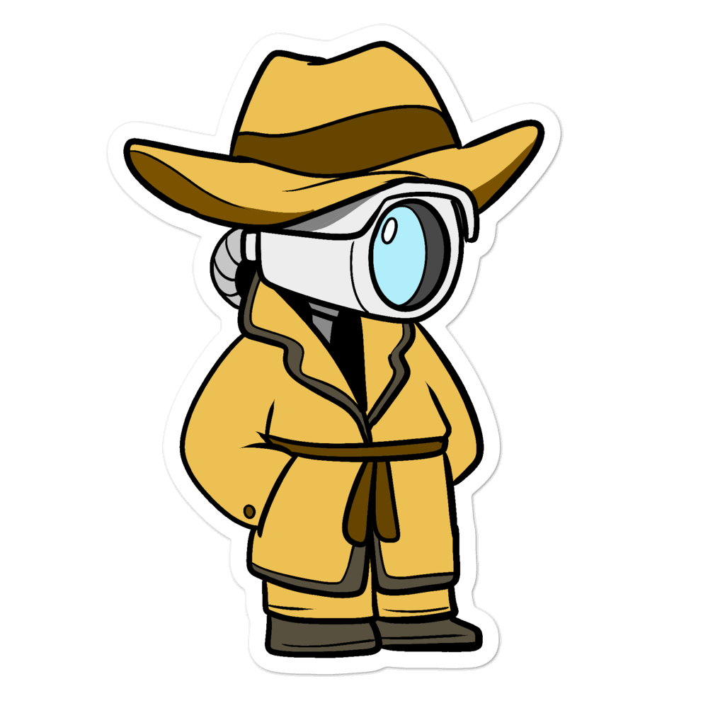 Don't Spy on Me Cartoon - Bubble-free stickers