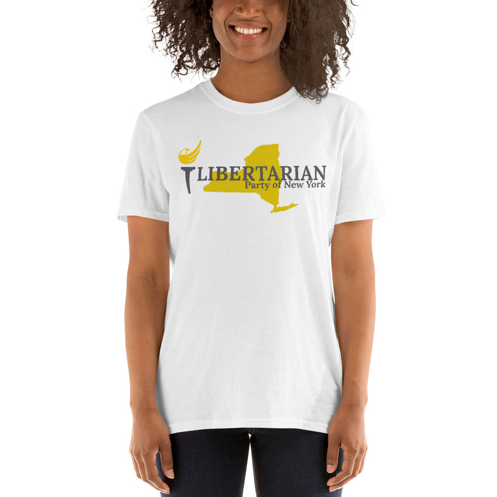 Libertarian Party of New York Short-Sleeve Unisex T-Shirt - Proud Libertarian