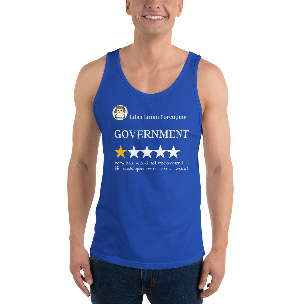 Government Very Bad Unisex Tank Top - Proud Libertarian
