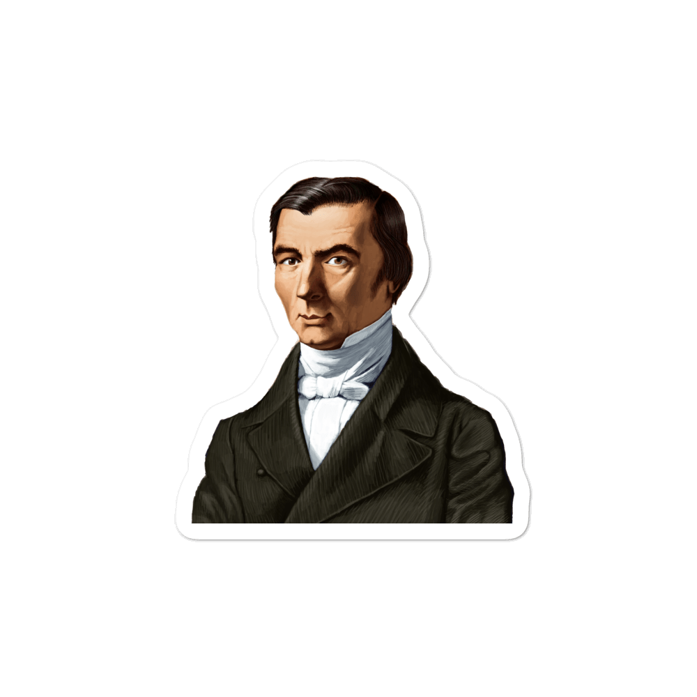Frederic Bastiat Bubble-free stickers - Proud Libertarian
