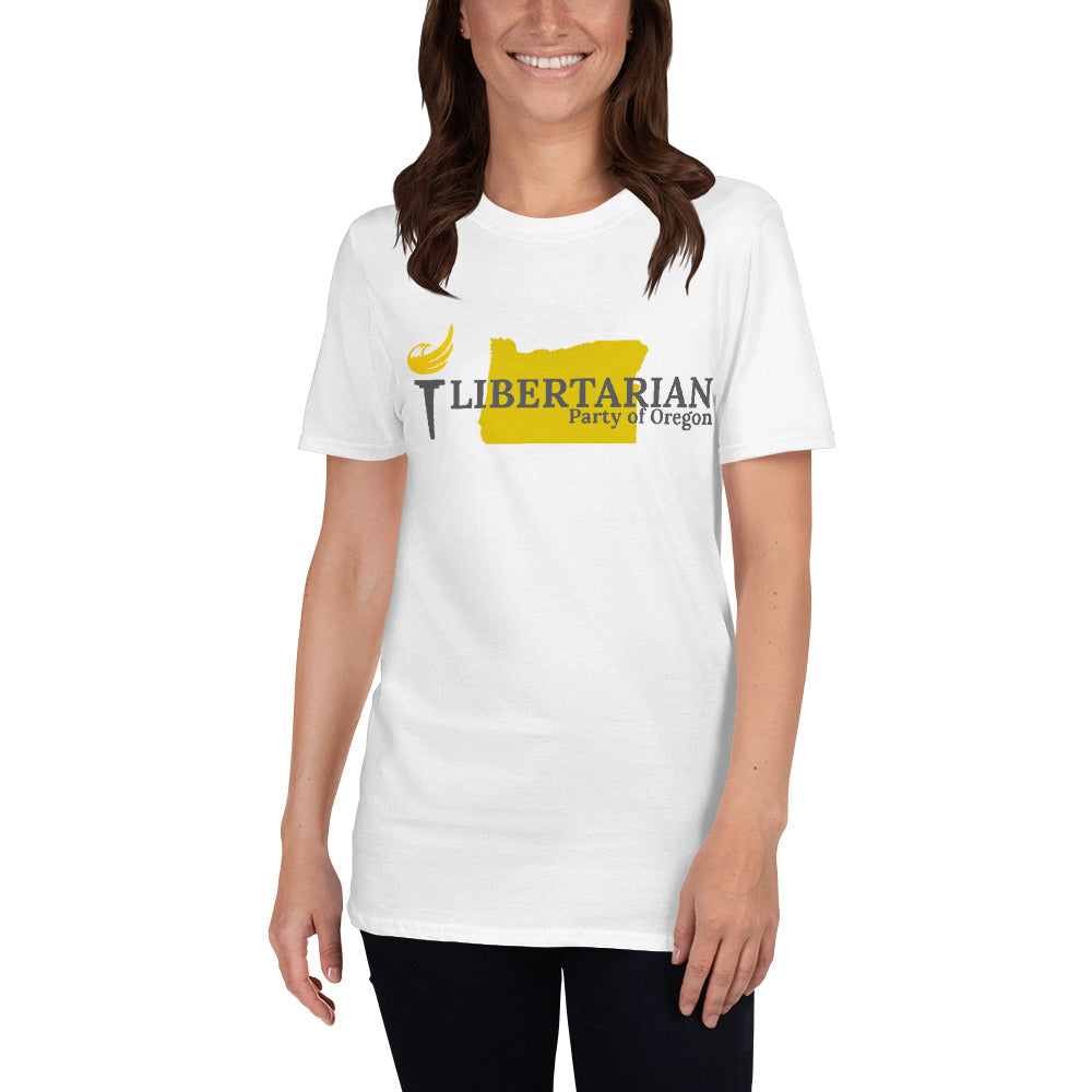 Libertarian Party of Oregon Short-Sleeve Unisex T-Shirt - Proud Libertarian