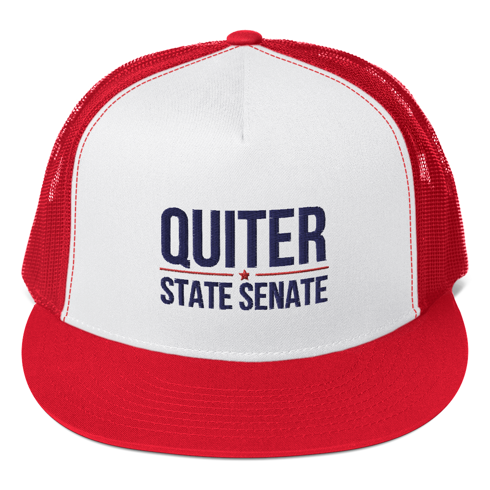Quiter for NY52 State Senate Trucker Cap - Proud Libertarian