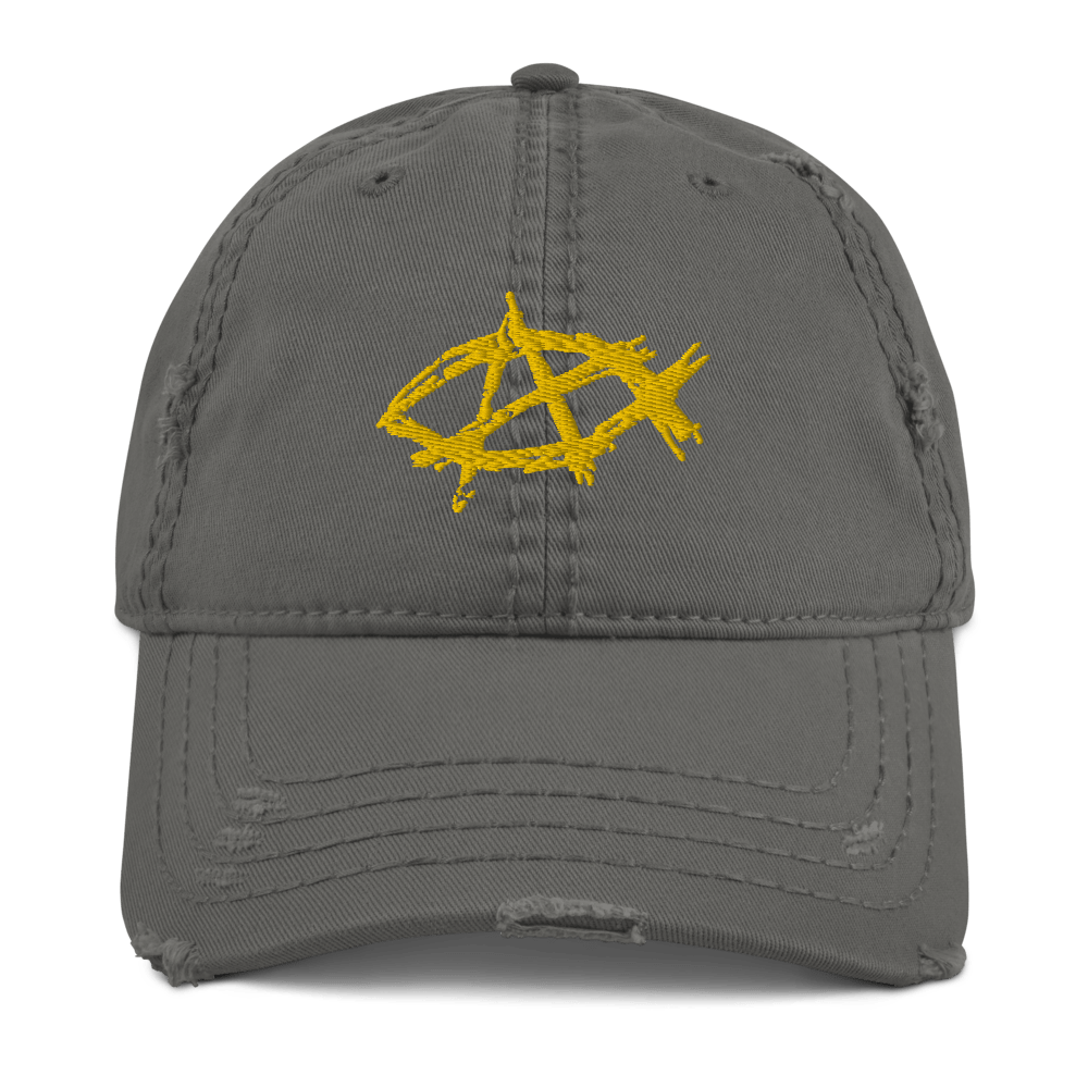 AnarchoChristian Distressed Dad Hat